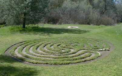 Gaia's Oasis: Fire Circle, Ritual, and Labyrinth Area
