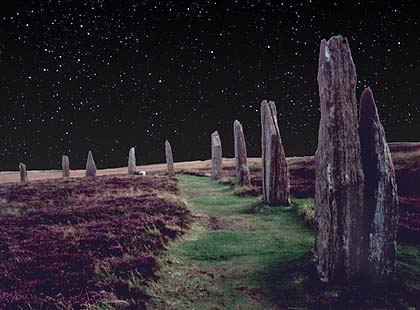 The Ring of Brodgar on the island of Orkney, Scotland